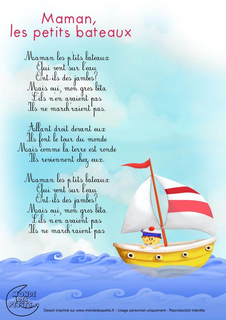 Paroles_Maman, les petits bateaux