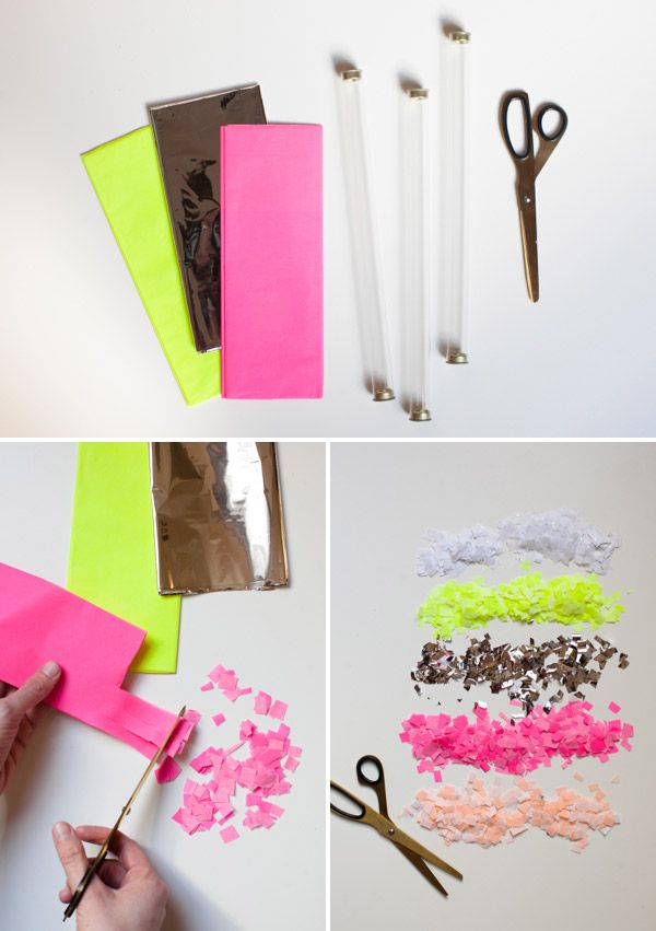 Homemade Confetti Throwers I M Making My Own With A Shaped Craft Punch And Crepe Paper To Had Out Now Can Make These