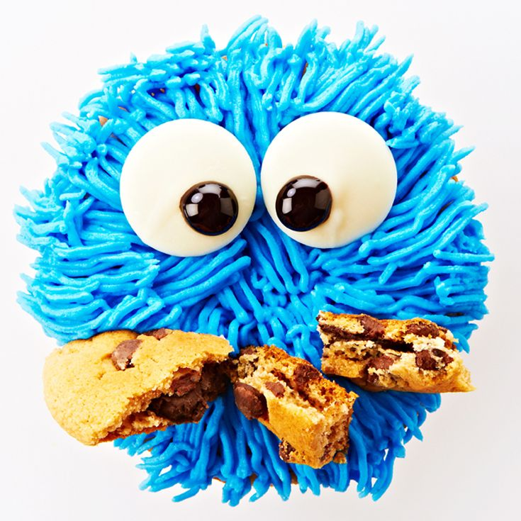 Chocolate Chip Cookie Monster Cupcake