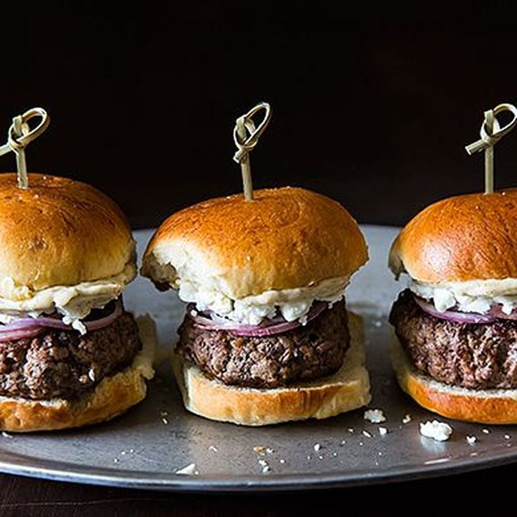 Lamb Sliders with Feta Cheese, Red Onions, and Cumin Mayonnaise Recipe on Food52 recipe on Food52