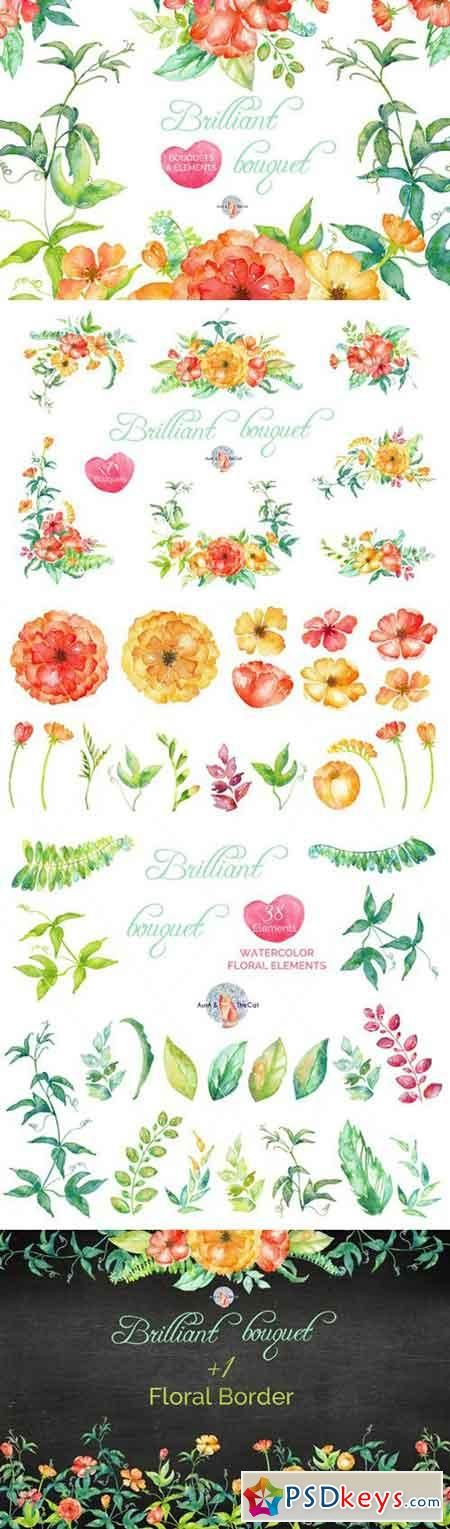 Brilliant Watercolor Clipart 480931