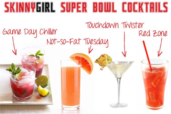 Skinny Girl cocktail recipes from Bethenny for the Super Bowl.  They all sound so good!