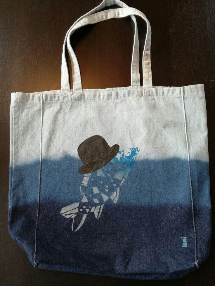 Loni Kreativwerkstatt / Jeans mit Blubb.  #print #shopping