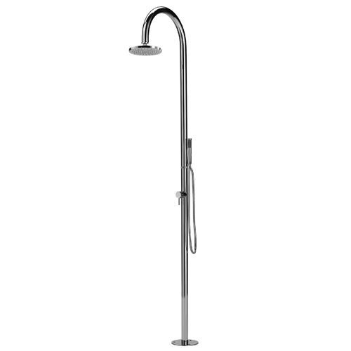 Outdoor Shower Company Fta C50as Hchs Origo C50 316 Marine Grade Stainless Steel Free Standing Hot And Cold Shower C Outdoor Shower Shower Columns Shower Heads