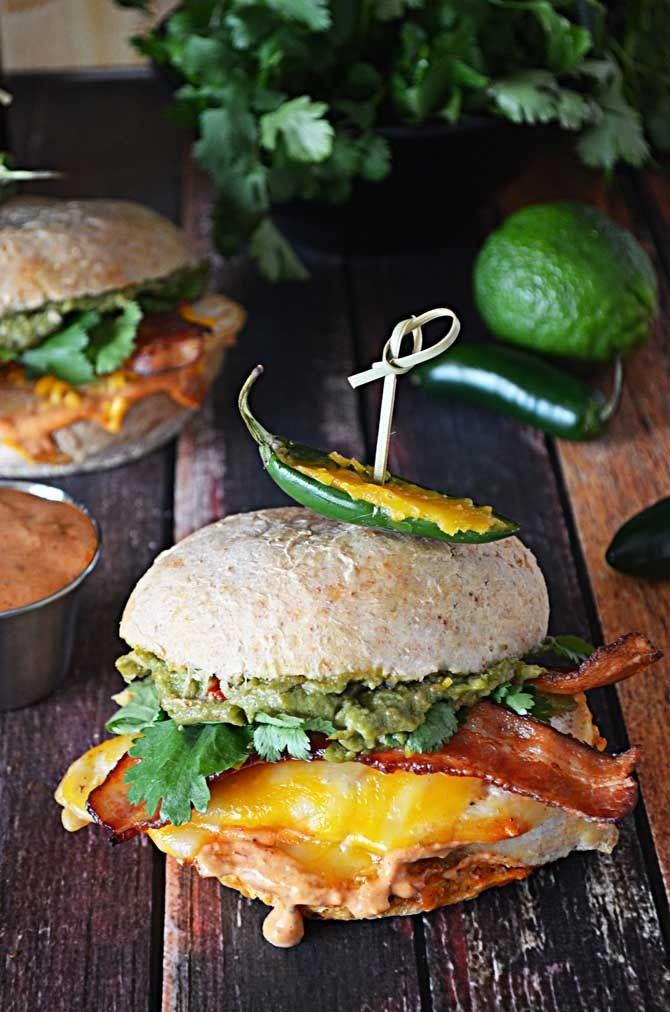 "Tequila Lime Chicken Sandwiches with Guacamole and Chipotle Mayo by Host the Toast. When I go out to eat at a casual restaurant, there's about a 75% chance I'm going to get a chicken sandwich if there is one on the menu.  It's only 75% because sometimes I like to ""broaden my horiz..."