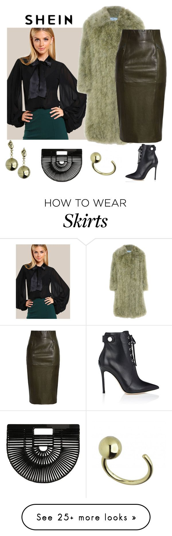 """outfit 7592"" by natalyag on Polyvore featuring Prada, Amanda Wakeley, Gianvito Rossi, Cult Gaia and Caterina Zangrando"