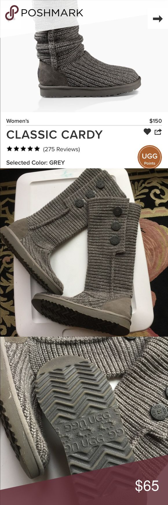 UGG Classic Cardy boots UGG Classic Cardy boots! Barely worn and in excellent condition! They don't get cozier then this! UGG Shoes Winter & Rain Boots