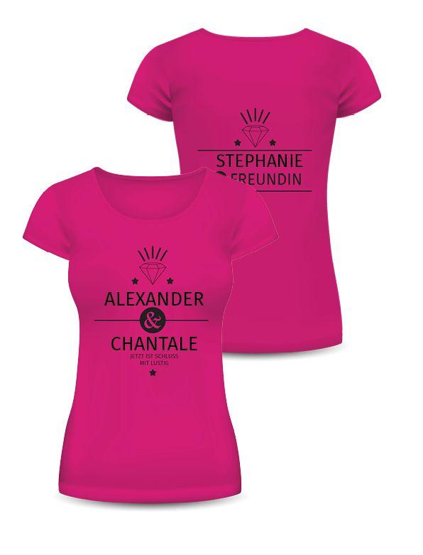 Versandkostenfreie T-Shirts für den Jungesellenabschied! #versandkostenfrei #jungesellinnen