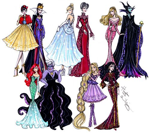 #DisneyDivas Princess vs Villainess collection by Hayden Williams