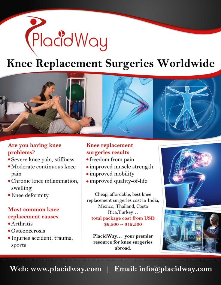 Are you having knee problems? PlacidWay helps you to get cheaporthopedic/knee surgery Hospitals at affordable prices. You also have various options to compare the orthopedic/knee surgery  prices, doctors, and options in different counties.  #infographic #kneereplacementsurgeriesworldwide #kneereplacement #orthopedic