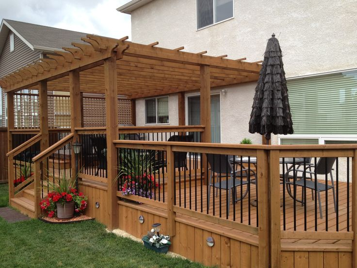 25 best ideas about deck with pergola on pinterest wooden pergola wooden canopy and curtain wire. Black Bedroom Furniture Sets. Home Design Ideas