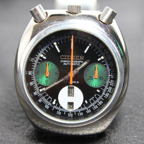 Vintage CITIZEN Bullhead Chronograph 8110A Automatik automatic chrono