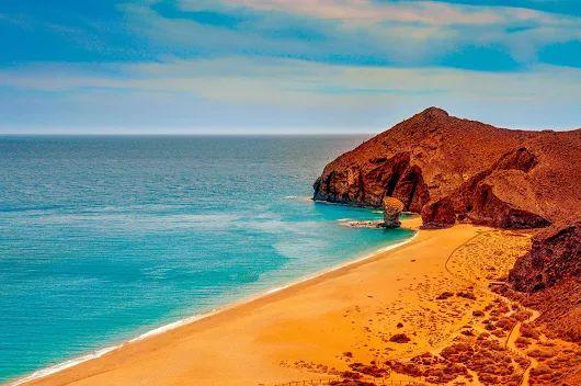 Playa de los Genoveses (San Jose), Cabo de Gata, Almería. Andalucía, Spain.