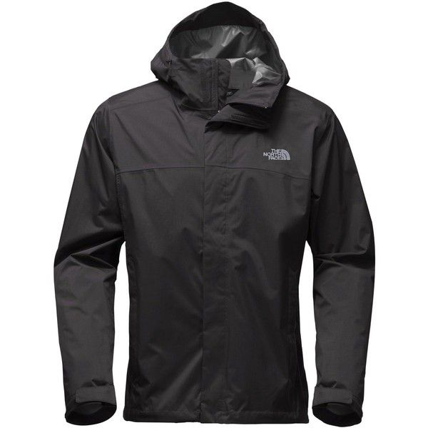 The North Face Men's Venture Waterproof Jacket ($99) ❤ liked on Polyvore featuring men's fashion, men's clothing, men's outerwear, men's jackets, black, mens waterproof jacket, mens windproof jacket, the north face mens jackets and mens jackets