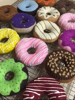 Perfect for Dramatic Play: Check out my Etsy Shop at Felt Sew Real for more felt fun! Your little ones will love to pretend with these fun FELT donuts!