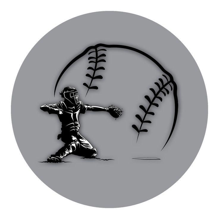 Baseball - Catcher Sticker