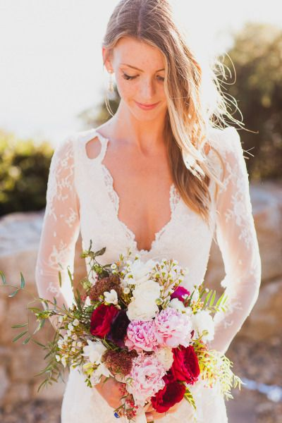 bohemian glamour in northern california wedding dress