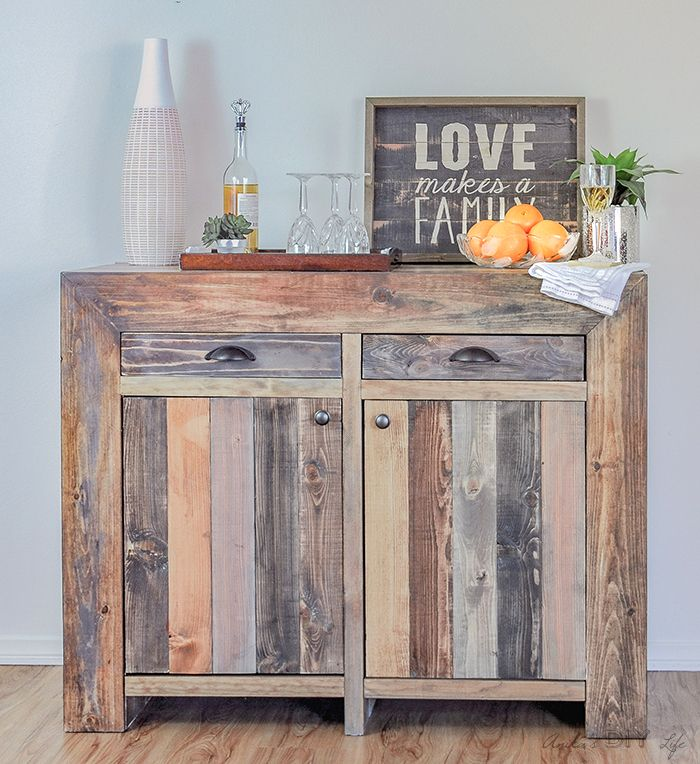 Build a West Elm inspired DIY Emerson buffet! Free Plans available!