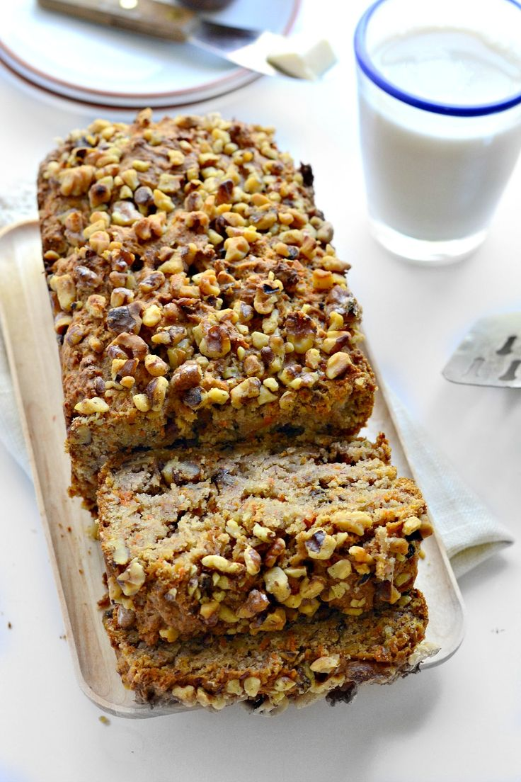 An EASY gluten-free quick bread stuffed with bananas and carrots. It's like Fall in sliced form!