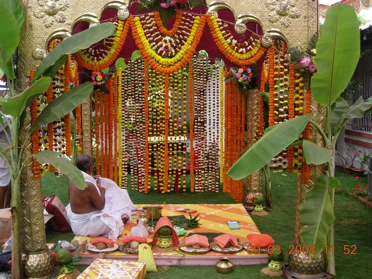 Hindu wedding mandap google search imaginary wedding for Decoration ka photo