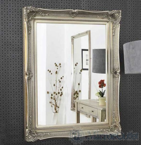 "5"" Glamorous ornate-style wall mirror. This mirror has a glass size of 3ft 4 x 2ft 6 102cm x 76cm and has an overall size of 4ft 3 x 3ft 5 130cm x 104cm."