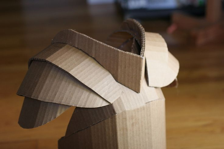 DIY Shows How to Make Your Kid a Cardboard Knight in Armor D