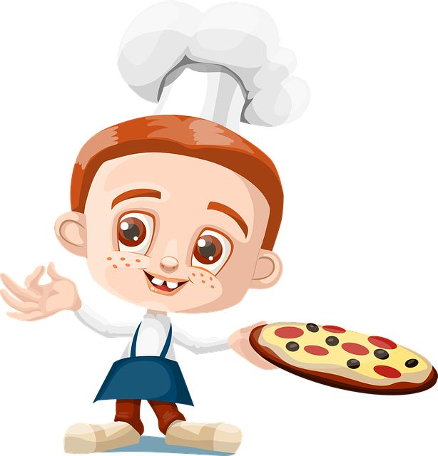 free image on pixabay cook boy kid pizza holding - Cartoon Kid Images