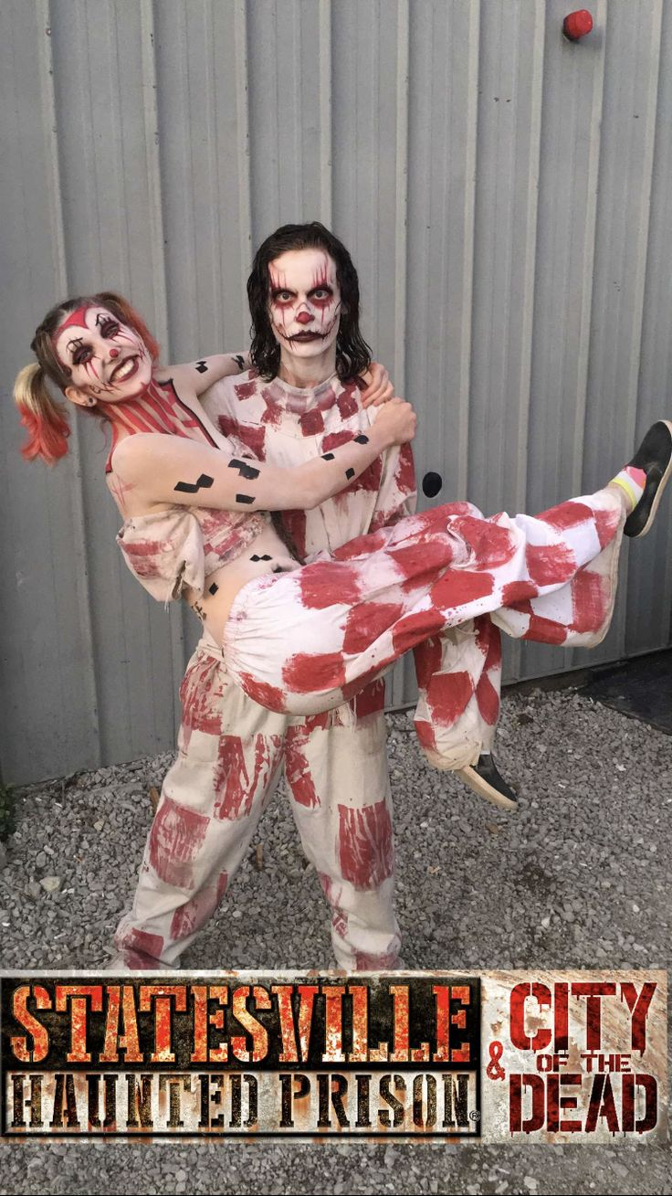 Statesville Haunted Prison is the home of many convicts that have rioted such as these two clowns right here. Don't be fooled by their big smiles, they're only excited they're finally allowed to come out and play again. Find out what's inside.
