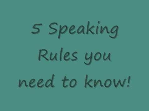 5 Speaking Rules you need to know! 1. Don't study grammar too much If you want to pass examinations then study grammar. However if you want to become fluent in English then you should try to learn English without studying the grammar. Studying grammar will only slow you down and confuse you. You will think about the rules when creating sentences instead of naturally saying a sentence like a native.  2. Learn and study phrases If you know 1000 words you might not be able to say one correct…