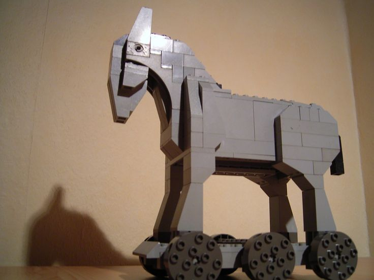 Ideas for Lego Trojan Horse for kids to make stop-motion movie