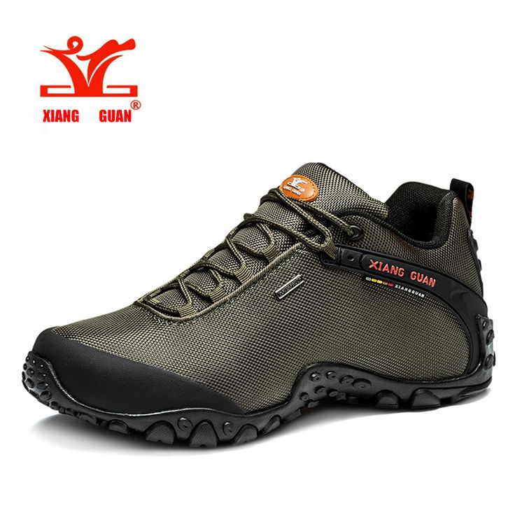 2016 xiangguan Man Outdoor Hiking Shoes fishing Athletic Trekking Boots Women Climbing Walking Sneskers large SIZE EUR 36-48