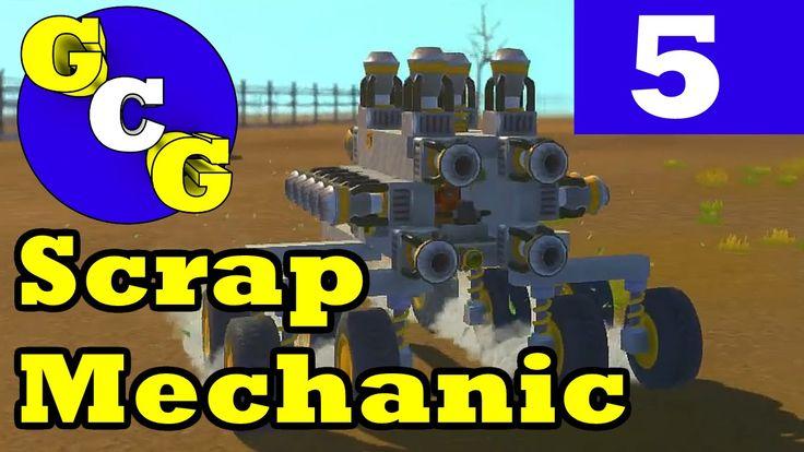 Scrap Mechanic - Pogo Stick/Rocket Car! Ep5