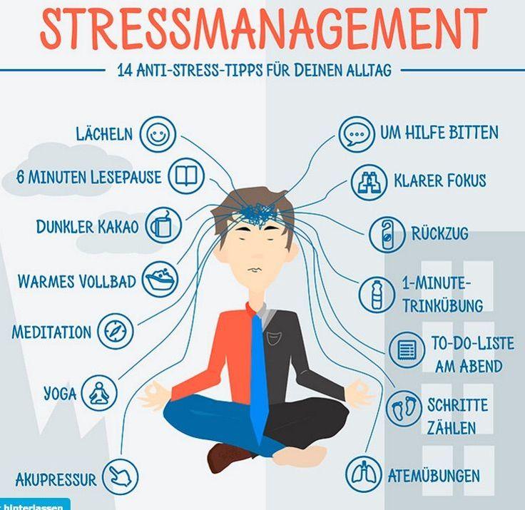 Stressmanagement – Infografik: 14 Anti-Stress-Tipps für ...