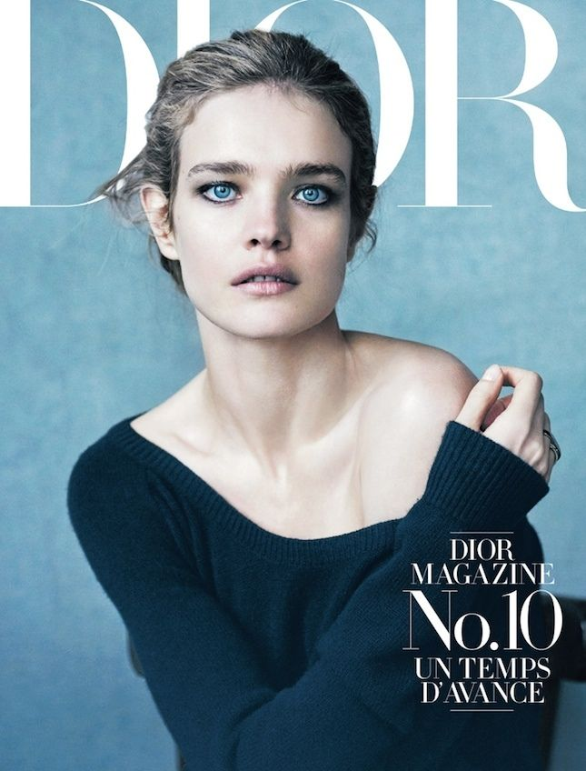 Голубая бездна: Наталья Водянова для журнала Dior   Glamour.ru