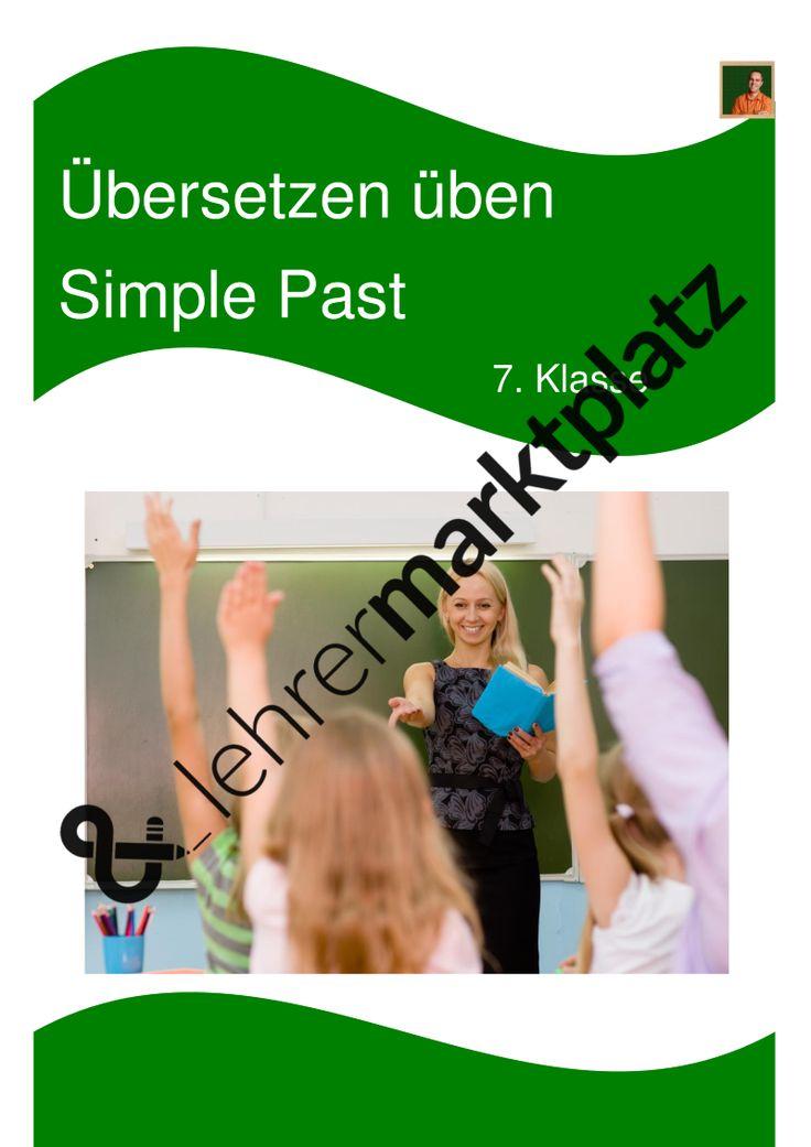 #kostenlos #Unterrichtsmaterial #Englisch #Grammatik unregelmäßige Verben Die Simple Past Übungen mit Lösungen zum Übersetzen üben für die 7. Klasse helfen Ihren Schülern dabei, das Übersetzen von Deutsch auf Englisch zu üben.