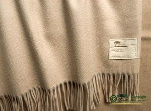 Luxuriöse Kaschmirdecke Perlmutt 130x220cm aus 100% Kas