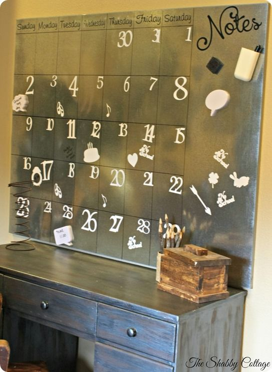 Huge Galvanized Steel Magnetic Calendar - Knock Off Decor