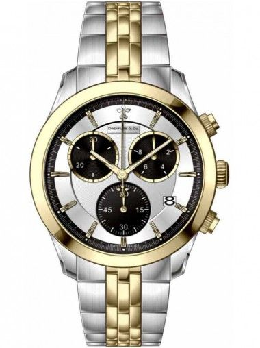 Dreyfuss and Co Gents Two Tone Chronograph Bracelet Watch DGB00063-06
