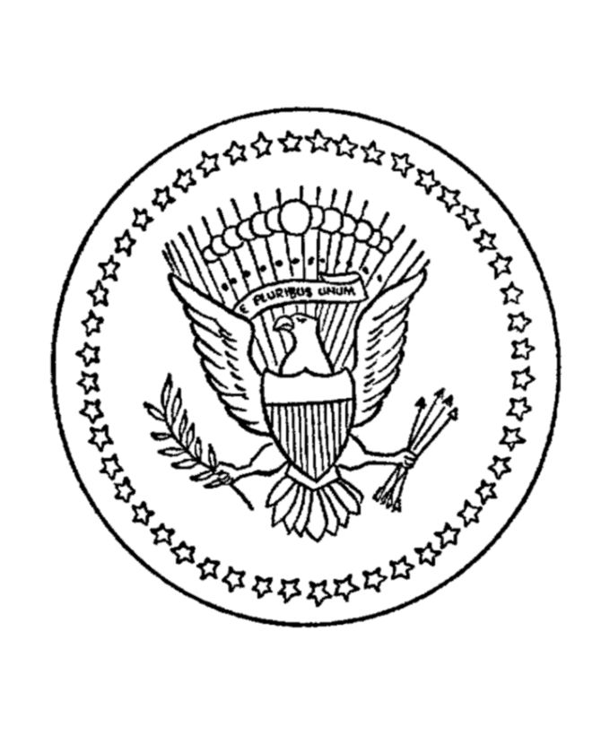 the great seal of the united states coloring page - Symbols America Coloring Pages