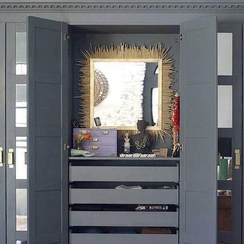 Pax Wardrobe, Contemporary, closet, Benjamin Moore Knoxville Gray, Little Green Notebook