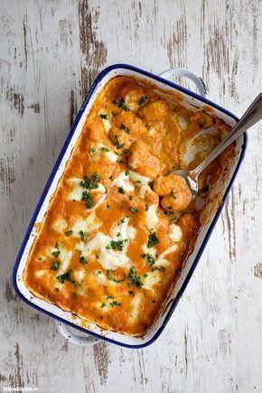 Sommer auf dem Teller mit im Ofen überbackene #Gnocchi mit Tomaten-Mascarpone-Sauce. In 30 Minuten fertig!   malteskitchen.de