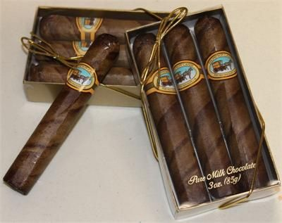 Chocolate cigars. Perfect for Moulin Rouge themed bday party favors