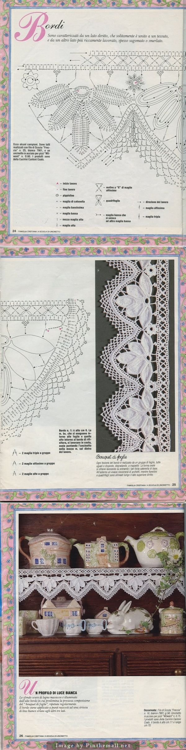 Very elaborate and stunning leaf motif edging ~~ http://www.webchiem.com/2011/05/crochet-lace-more-patterns-in-crochet.html?m=1