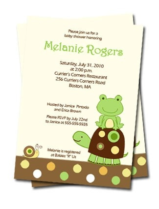 Laguna Frog Baby Shower  or Birthday Invitations Print your Own U Print JPG Digital File