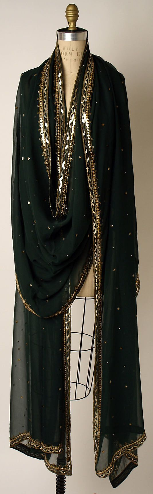 sequined indian scarves. Dior Scarf - 1950's-60's- House of Dior (French, founded 1947) - Silk, plastic, rhinestones