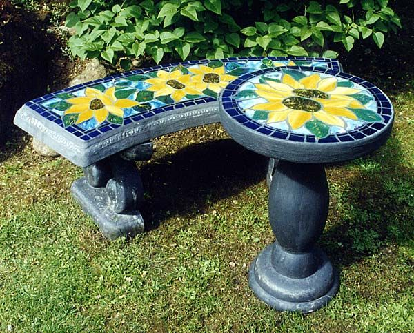 Stained Glass Benches Concrete Benches Nanaimo Bc