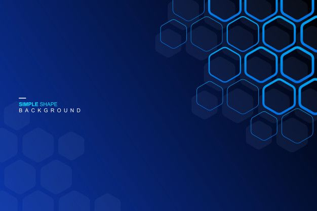 Blue Hexagon Background In 2020 Vector Free Banner Backdrop Banner