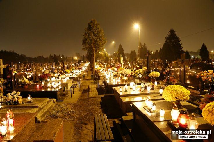 Ostrołęcki cmentarz nocą (01.11.2014)/cmentarz-027 - Galeria zdjęć - Moja Ostrołęka - lepsza strona miasta