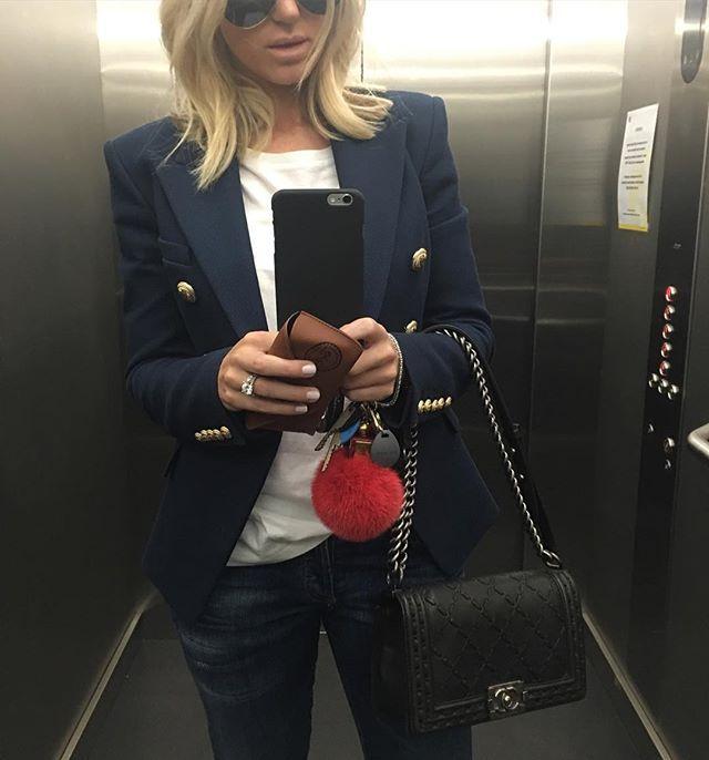 Roxy Jacenko   Balmain blazer