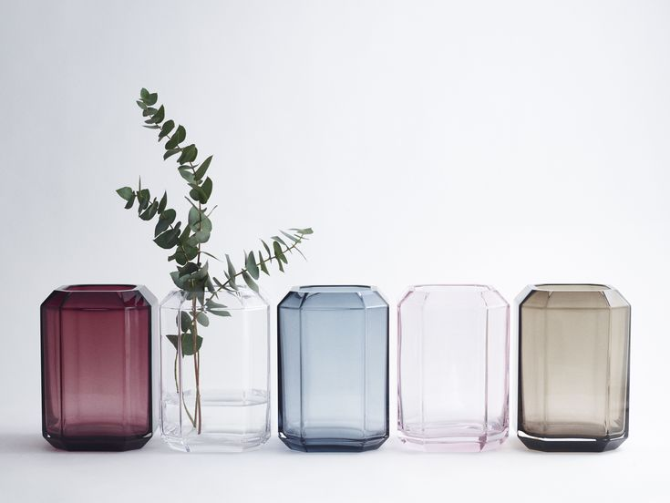 The jewel vase from Louise Roe Copenhagen. Mouthblown glass vases in 5 colours.
